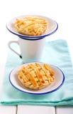2 пирога решетки рикотты мини Стоковая Фотография RF