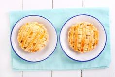2 пирога решетки рикотты мини Стоковое Изображение RF