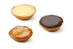 3 пирога с лимоном, шоколадом, яблоком Стоковая Фотография RF
