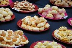 Пироги ананаса на плитах для дисплея Стоковое Изображение RF