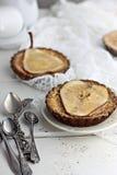 Пироги заварного крема груши и ванили Стоковое фото RF
