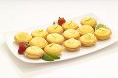 пироги заварного крема Стоковые Фото