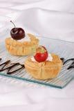 пироги клубники вишни Стоковая Фотография