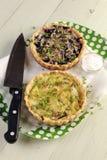 Пироги красной и белой капусты с сыром Стоковое Изображение