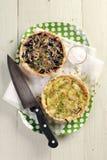 Пироги красной и белой капусты с сыром Стоковые Изображения RF
