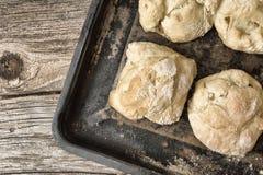 Пироги на подносе Стоковая Фотография