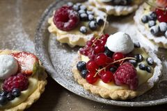 Пироги плода стоковые фото