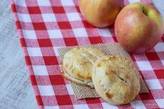 Пироги руки Яблока в осени Стоковое Изображение RF
