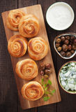 Пироги сыра печенья Phyllo Стоковая Фотография