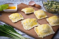 Пироги с лук-пореем и яичками Стоковые Изображения RF