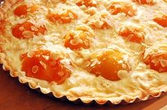 пирог абрикоса миндалины стоковые изображения
