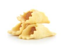 Пирог ананаса изолированный на белой предпосылке Стоковое Изображение RF