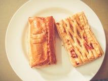 Пирог ананаса и пирог шпината Стоковые Фотографии RF