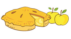 пирог бабушки s яблока Стоковое Изображение