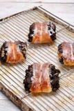Пирог бейгл с маковыми семененами Стоковые Фото