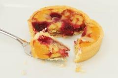 пирог вишни миндалины Стоковые Изображения