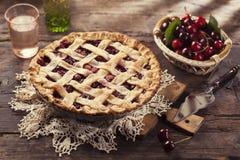 Пирог вишни Стоковые Фото