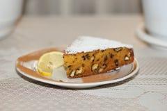 Пирог грецкого ореха тыквы Стоковое Изображение