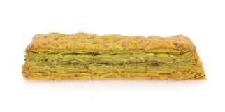 Пирог зеленого чая Стоковое фото RF