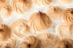 Пирог лимона крупного плана с meringu Стоковая Фотография