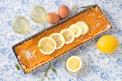 Пирог лимона Стоковое Изображение