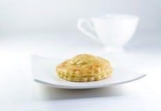 Пирог и кофе тунца Стоковое Фото