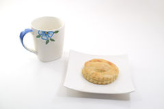 Пирог и кофе тунца Стоковое Изображение