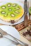 Пирог и специи пирога кивиа Стоковое фото RF
