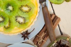 Пирог и специи пирога кивиа Стоковые Изображения RF