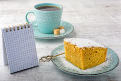 Пирог и чай тыквы Стоковые Фото
