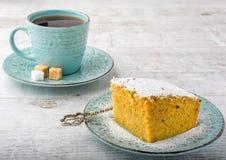 Пирог и чай тыквы Стоковые Изображения RF
