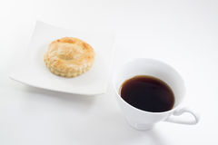 Пирог и чашка тунца Стоковые Фото