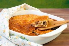 Пирог капусты и мяса Стоковые Изображения