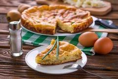 Пирог капусты с луком Стоковая Фотография