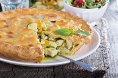 Пирог карри цыпленка смачный Стоковое Изображение