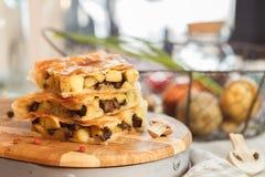 Пирог картошки квадратный Стоковые Изображения RF