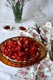Пирог клубники Стоковая Фотография