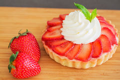Пирог клубники Cream Стоковое Изображение RF