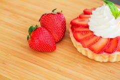 Пирог клубники Cream Стоковые Фотографии RF