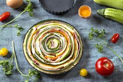 Пирог овоща стоковые изображения