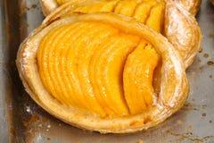 Пирог персика для торжества дня Бастилии Стоковая Фотография RF