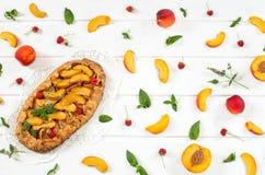 Пирог персика Стоковая Фотография RF
