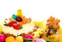 пирог печенья пасхи праздничный стоковая фотография