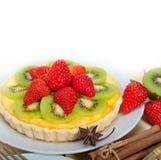 Пирог пирога кивиа и клубники Стоковое Фото