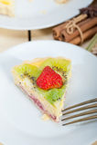 Пирог пирога кивиа и клубники Стоковая Фотография