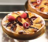 Пирог плодоовощ в французской хлебопекарне Стоковые Фотографии RF