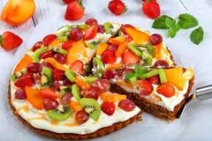 Пирог плодоовощ тыквы отрезанный в кусках Стоковое Изображение