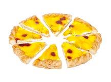Пирог плодоовощ Равные доли вишня и ананас Стоковое Изображение RF