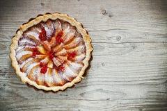 Пирог плодоовощ с персиками Стоковое Изображение