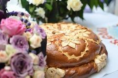 Пирог свадьбы Стоковое Изображение